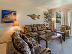 Island style living room for relaxing after a full day of fun activities on Maui.