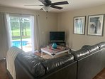 Open Concept Family Room - Private Screened -in Pool with Golf Course Views