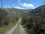 Glentrasna valley walk. Start from cottage