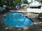 Seasonal pool June thru September unheated 6 feet