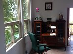 Downstairs desk & chair, great for business travelers