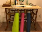 Yoga mats available