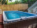 Endless wave pool in private back yard