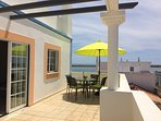 West facing terrace catches the sun in the afternoon and evening, , great for al fresco dining