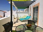There's plenty of space on the west terrace for four adjustable sun loungers