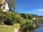 Penlan riverside setting