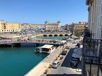 View from the balconies towards the bridges and Porto Piccolo