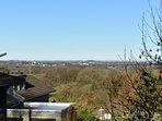 Aussicht vom Balkon der Teeküche im Frühjahr