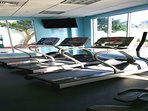 Fitness Center is facing the Pool Area