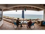 BBQ outdoors while you enjoy the ocean view