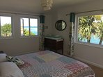 Master Bedroom with Super kingsize Bed and Panoramic Sea Views