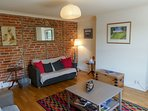 Original wall brick feature in lounge room..