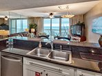 You will love preparing meals with this view.