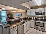 Your full size kitchen with new appliances. We upgraded even the kitchen faucet.
