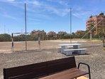 campo de fútbol, jardines Urbanización.