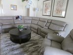 Lounge area with quality furnishings