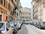 Via San Giovanni in Laterano. Sotto casa.