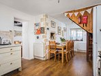 The beautiful open-plan kitchen and dining area