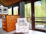 French window opens onto veranda