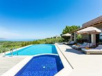 50 sq. m ecological infinity heated swimming pool & Child pool with a depth of 0.7 m.