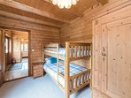 Bedroom 3, with 2 sets of bunk beds