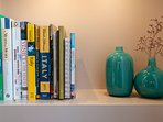 Our small multilingual library, with lots of guidebooks, interesting magazines and updated booklets