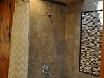 Jetted tub with custom tile