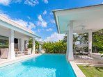 Huge Pool inside your very own Private Villa. Lush Tropical Gardens, Sun Terrace and Outdoor Dining