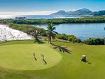18 hole Championship golf course 20 minutes drive from Ocean Song Villa in Frigate Bay.