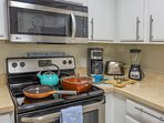Kitchen is fully equipped - pots, pans, glasses, plates, utensils and many more