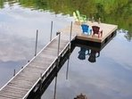 Dock with swimming platform.