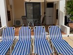 Sun Loungers and Patio