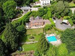 Our beautiful 6 bedroom house, with tiered garden, pool and large car private car park