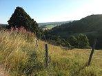 Vue panoramique depuis le Domaine de l'Ours sur l'Aubrac