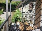 terrasse du gite été résidence au chalet des quatre saisons