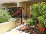Private garden and patio.