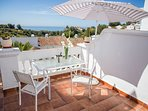 Lovely terrace with stunning sea views
