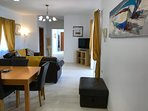 Excellent service of wi-fi throughout the villa. Flat screen TV with extensive UK channels.