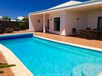 Substantial villa and large 32 sq mt heated pool. Located in an upmarket residential estate.