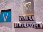 Villa Blackrock with the touristic sign. Fully registered for letting.