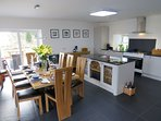 living/dining/kitchen open plan downstairs