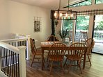 kitchen dining room to outside deck