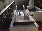 Pool view balcony furniture
