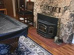 Front room wood fireplace insert