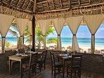One little restaurant on the beach near Villa Stefy