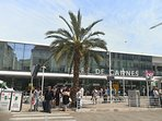 Cannes train station - 10 mins walk from the apartment