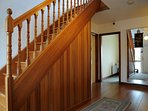 Entrance to Dining Room and upstairs to Double Room
