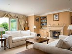 Opulent, country house living room