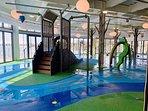 Splash zone for the kids and big kids