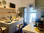 cucina abitabile e completamente attrezzata